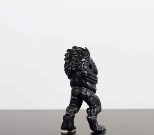 resin-3d-printing-service-black-scaley-monster